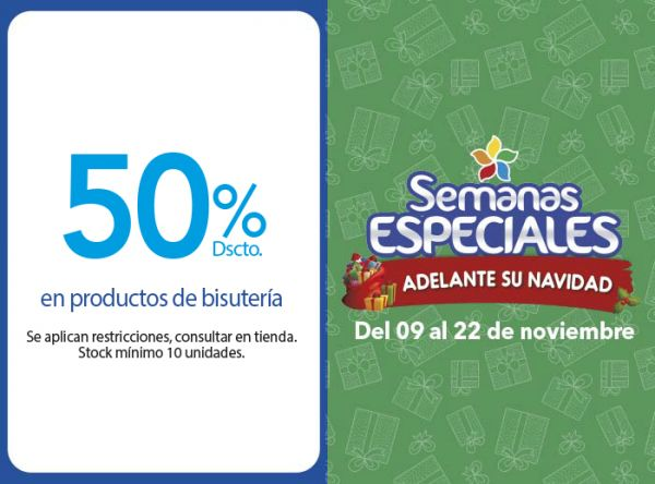 50% DSCTO. EN PRODUCTOS DE BISUTERÍA - Plaza Norte