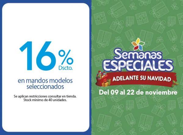 16% DSCTO EN MANDOS MODELOS SELECCIONADOS - Plaza Norte