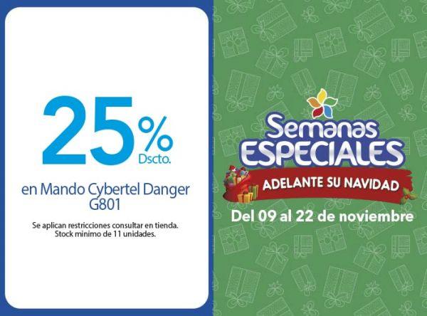 25% DSCTO EN MANDO CYBERTEL DANGER G801  - Plaza Norte