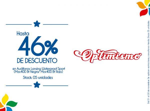 HASTA 46% DSCTO EN AUDÍFONOS LANSING WATERPROOF SPORT (MZX400 BT NEGRO/ MZX400 BT ROJO) STOCK: 05 UNIDADES. - Plaza Norte