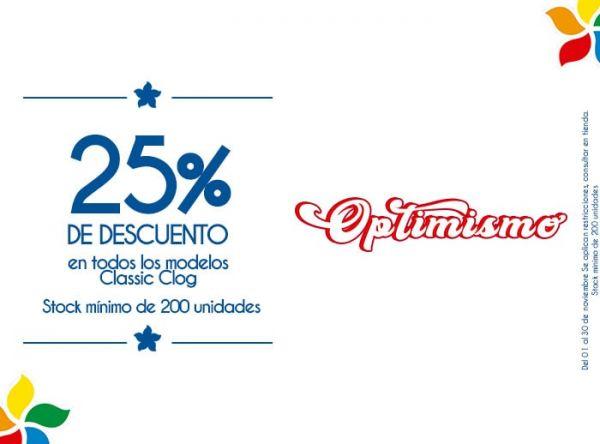 25% DSCTO EN TODOS LOS MODELOS CLASSIC CLOG. STOCK MÍNIMO: 200 UNIDADES - Plaza Norte