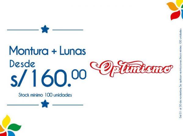 MONTURA MÁS LUNAS DESDE S/ 160. STOCK MÍNIMO: 100 UNIDADES - Plaza Norte