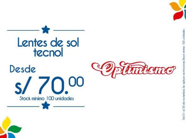 LENTES DE SOL TECNOL DESDE S/ 70. STOCK MÍNIMO: 100 UNIDADES - Plaza Norte