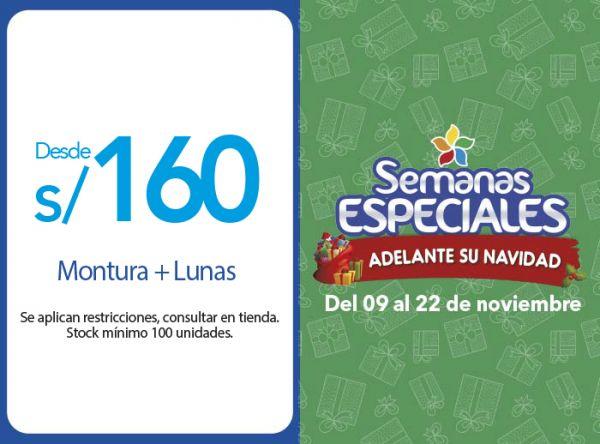 MONTURA + LUNAS DESDE S/ 160.00 - Plaza Norte