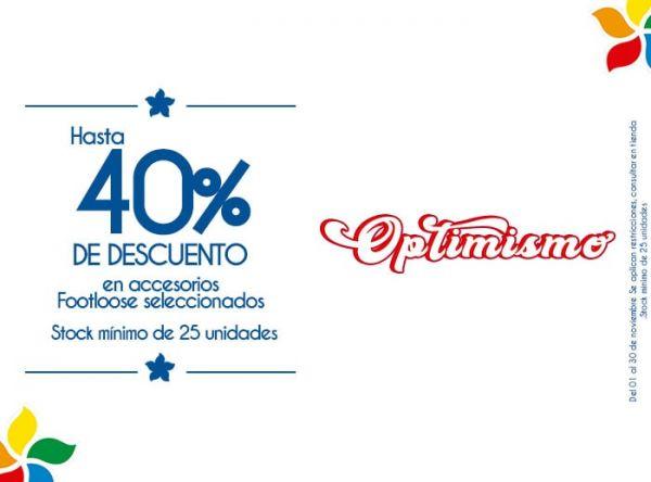 HASTA 40% DSCTO EN ACCESORIOS FOOTLOOSE SELECCIONADOS. STOCK MÍNIMO: 25 UNIDADES - Plaza Norte