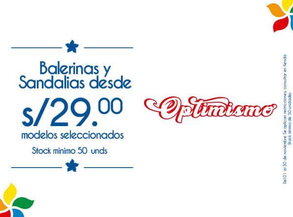 BALERINAS Y SANDALIAS DESDE 29 SOLES MODELOS SELECCIONADOS. STOCK MÍNIMO: 50 UNIDADES - Plaza Norte