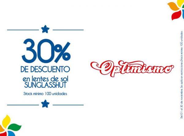 30% DCTO EN LENTES DE SOL SUNGLASSHUT. STOCK MÍNIMO:100 UNIDADES - Plaza Norte