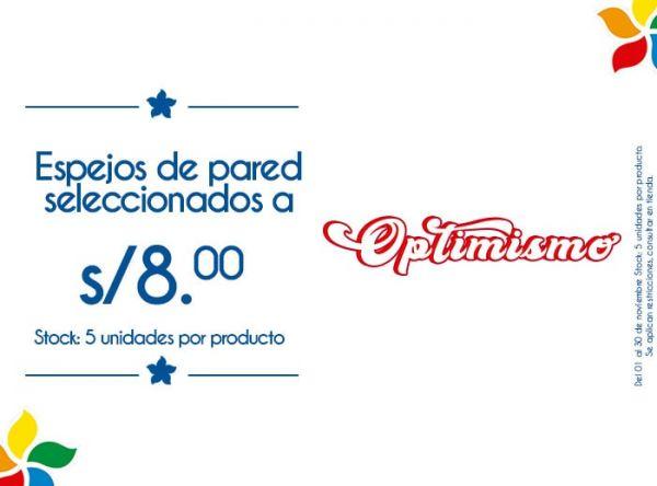 ESPEJOS DE PARED SELECCIONADOS A S/8.00 STOCK: 5 UNIDADES POR PRODUCTO - Plaza Norte