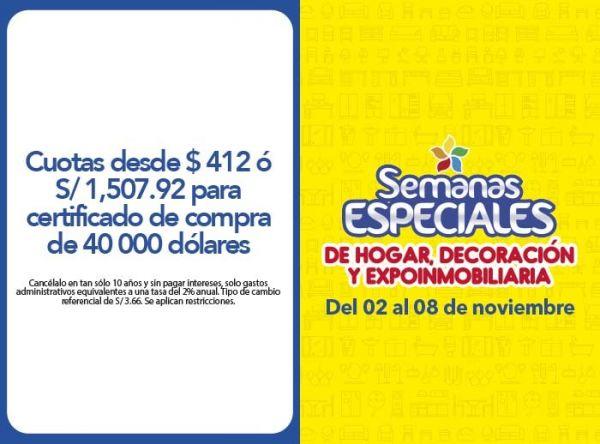 CUOTAS DESDE US$ 412 Ó S/ 1,507.92 - Plaza Norte