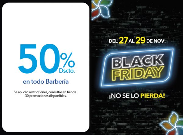 50% DSCTO. EN TODO BARBERÍA. - Plaza Norte