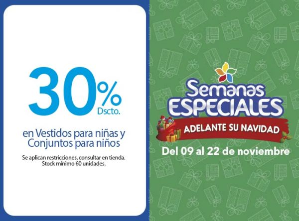 30% DSCTO EN VESTIDOS PARA NIÑAS Y CONJUNTOS PARA NIÑOS - Plaza Norte