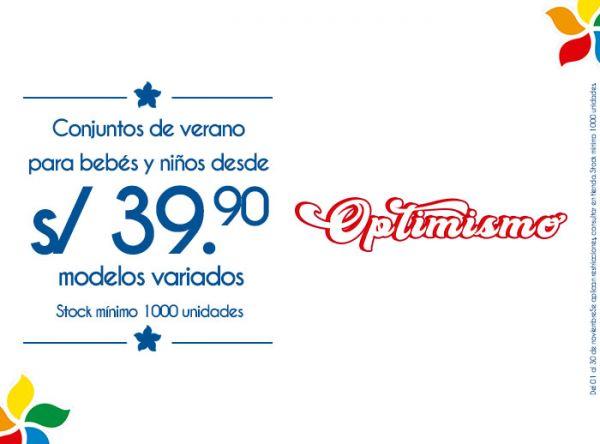 CONJUNTOS DE VERANO PARA BEBÉS Y NIÑOS DESDE S/39.90 MODELOS VARIADOS  STOCK MÍNIMO: 1000 UNIDADES - Plaza Norte