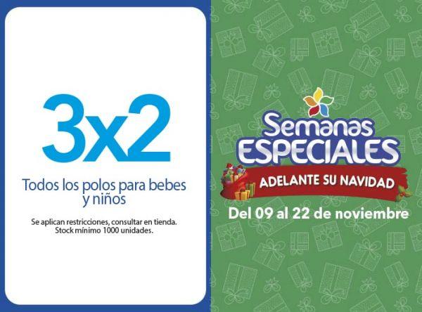 3X2 TODOS LOS POLOS PARA BEBES Y NIÑOS - Plaza Norte