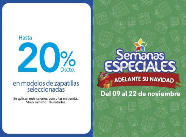 HASTA 20% DSCTO EN MODELOS DE ZAPATILLAS SELECCIONADAS (ATRIL) - Plaza Norte