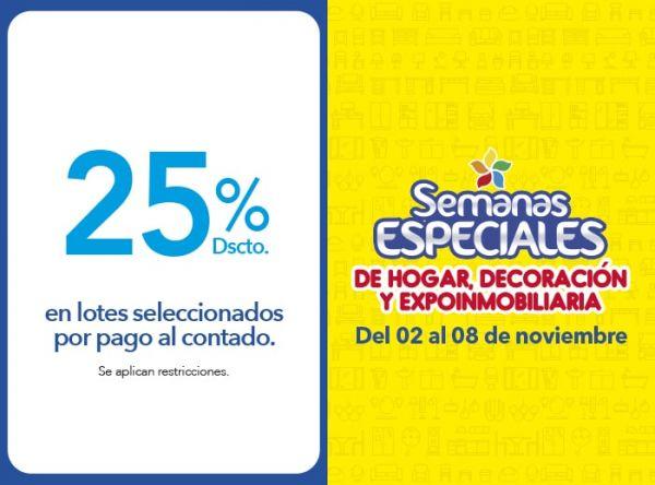 25% DSCTO EN LOTES SELECCIONADOS POR PAGO AL CONTADO - Plaza Norte