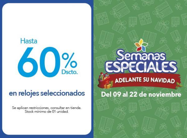 HASTA 60% DSCTO EN RELOJES SELECCIONADOS - Plaza Norte