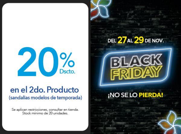 20% DSCTO EN EL 2DO. PRODUCTO  (SANDALIAS MODELOS DE TEMPORADA)  - Plaza Norte