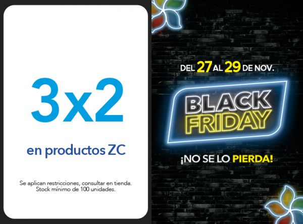 3X2 EN PRODUCTOS ZC - Plaza Norte