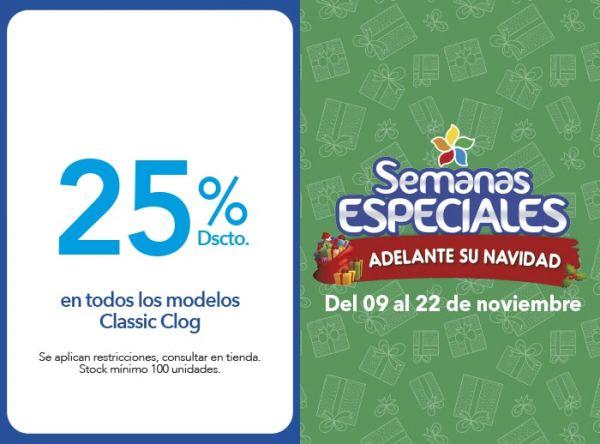 25% DSCTO EN TODOS LOS MODELOS CLASSIC CLOG - Plaza Norte