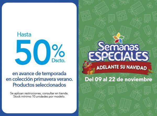 HASTA 50% DSCTO EN AVANCE DE TEMPORADA EN COLECCIÓN PRIMAVERA VERANO - Plaza Norte