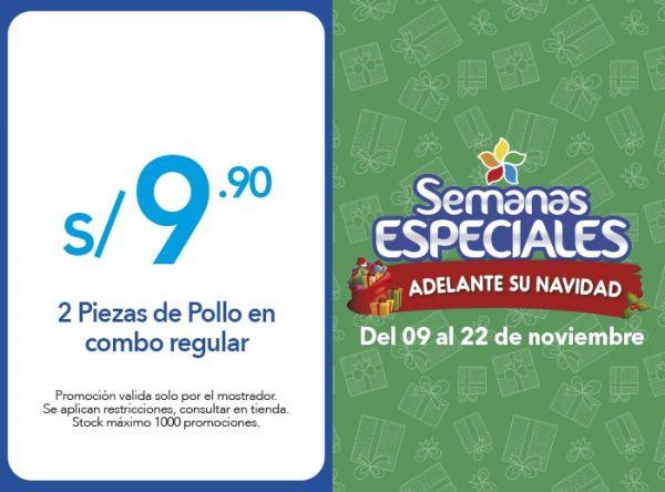 2 PIEZAS DE POLLO EN COMBO REGULAR S/9.90 - Plaza Norte