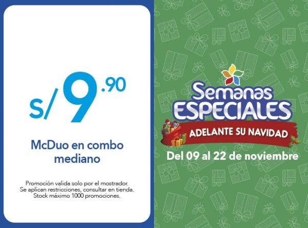 MCDUO EN COMBO MEDIANO S/9.90 - Plaza Norte
