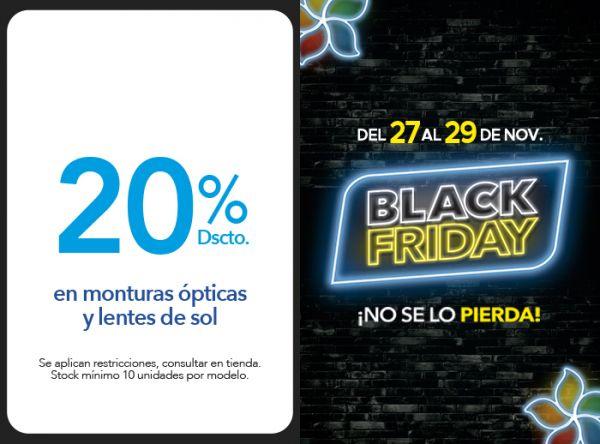 20% DSCTO. EN MONTURAS ÓPTICAS Y LENTES DE SOL - Plaza Norte