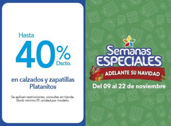 HASTA 40% DSCTO. EN CALZADOS Y ZAPATILLAS PLATANITOS - Plaza Norte