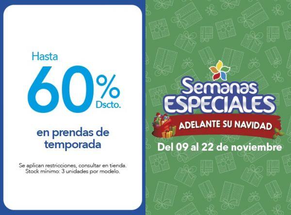HASTA 60% DSCTO EN PRENDAS DE TEMPORADA - Plaza Norte
