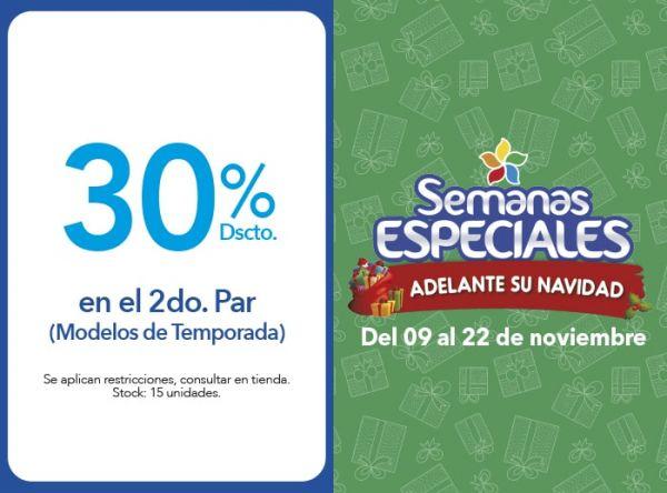 30% DSCTO EN EL 2DO. PAR (MODELOS DE TEMPORADA) - Plaza Norte