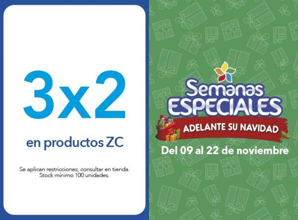 3X2 EN PRODUCTOS ZC - Plaza Norte