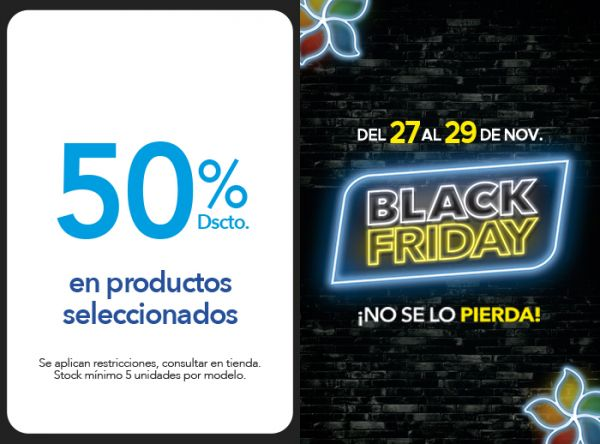50% DSCTO. EN PRODUCTOS SELECCIONADOS - Plaza Norte