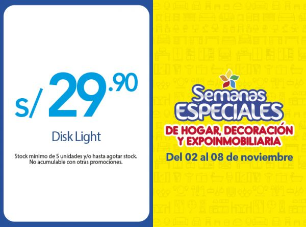 DISK LIGHT A S/ 29.90  - Plaza Norte