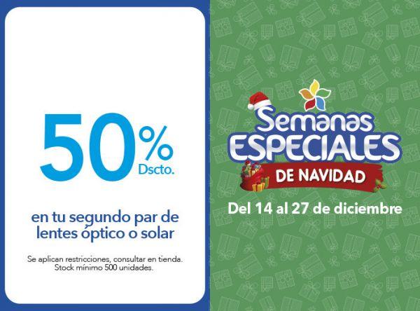 50% DSCTO. EN TU SEGUNDO PAR DE LENTES ÓPTICO O SOLAR - Plaza Norte