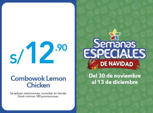 COMBOWOK LEMON CHICKEN A S/.12.90 - Chinawok - Mall del Sur