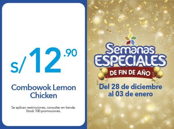 COMBOWOK LEMON CHICKEN A S/.12.90 - Plaza Norte
