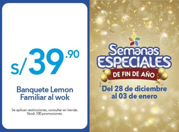 BANQUETE LEMON FAMILIAR AL WOK A S/. 39.90 - Plaza Norte