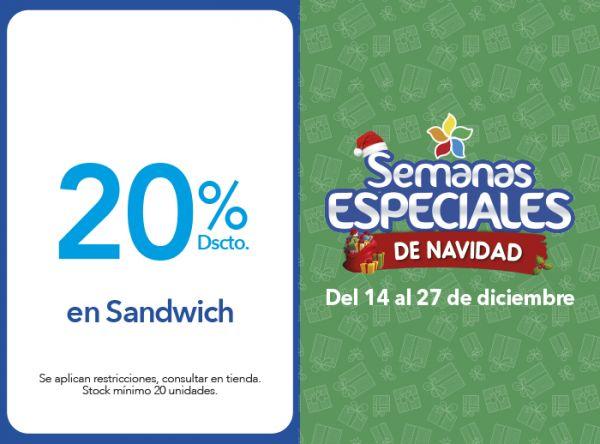 20% DSCTO. EN SANDWICH - Plaza Norte