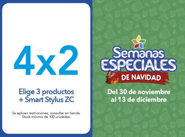 4X2 (ELIGE 3 PRODUCTOS + SMART STYLUS ZC) - Plaza Norte