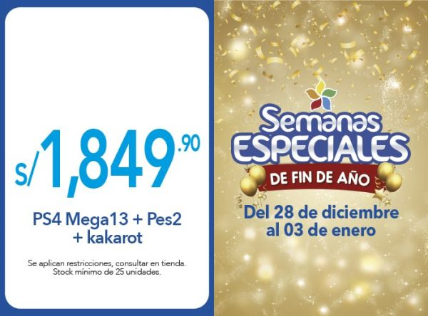 PS4 MEGA13+PES21+KAKAROT A S/1,849.90 - Plaza Norte