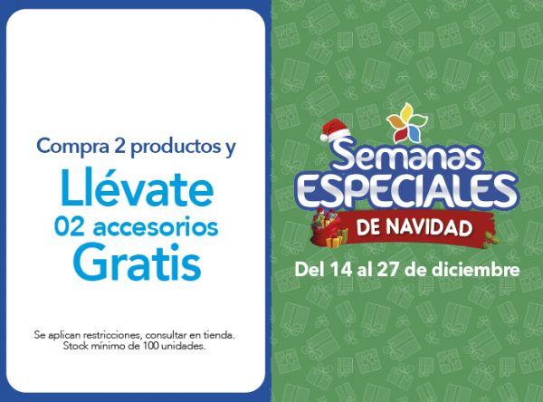 COMPRA DE 2 PRODUCTOS Y LLÉVATE DOS ACCESORIOS GRATIS - Plaza Norte