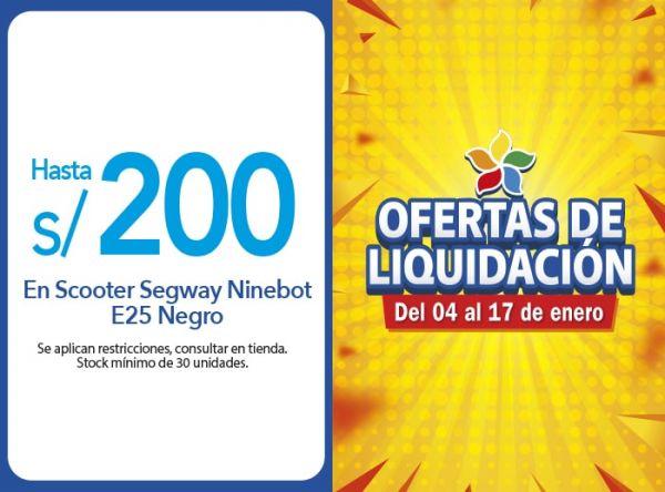 HASTA S/ 200.00 DSCTO. EN SCOOTER SEGWAY NINEBOT E25 NEGRO COMPUUSA - Mall del Sur