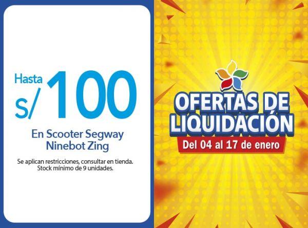 HASTA S/100.00 DSCTO.EN SCOOTER SEGWAY NINEBOT ZING COMPUUSA - Mall del Sur
