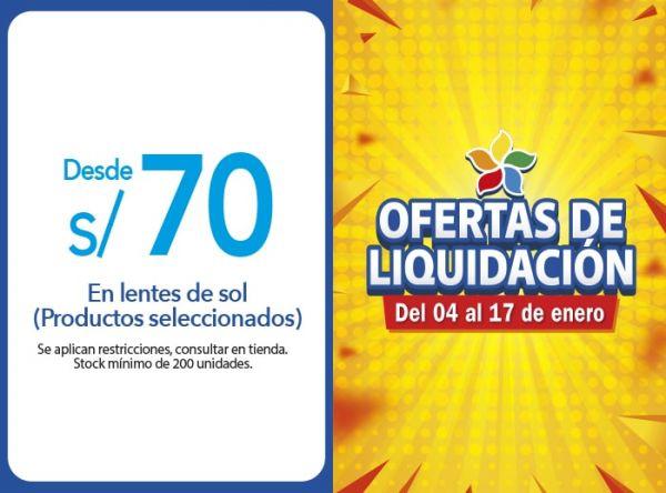 DESDE S/70 EN LENTES DE SOL (PRODUCTOS SELECCIONADOS) Econópticas - Mall del Sur