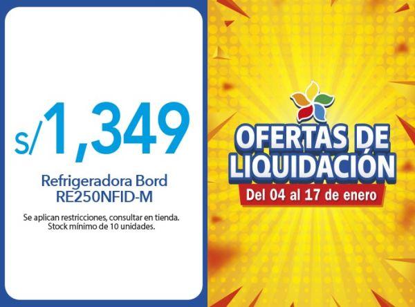REFRIGERADORA BORD RE250NFID-M A S/1,349.00 EFE - Mall del Sur