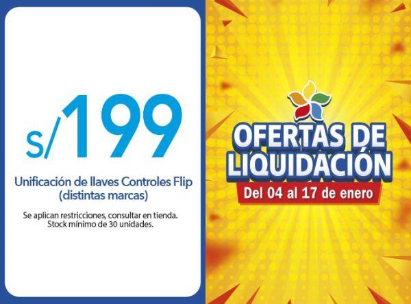 UNIFICACIÓN DE LLAVES CONTROLES FLIP (DISTINTAS MARCAS) OFERTA S/ 199.00 huntay - Mall del Sur