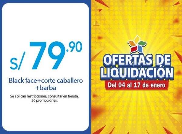 BLACK FACE+CORTE CABALLERO+BARBA A S/.79.90 MONTALVO FOR MEN  - Mall del Sur