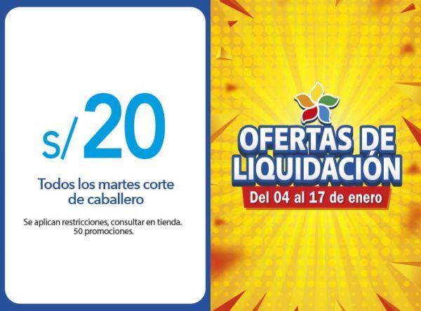 TODOS LOS MARTES CORTE DE CABALLERO A S/.20.00 MONTALVO FOR MEN  - Mall del Sur