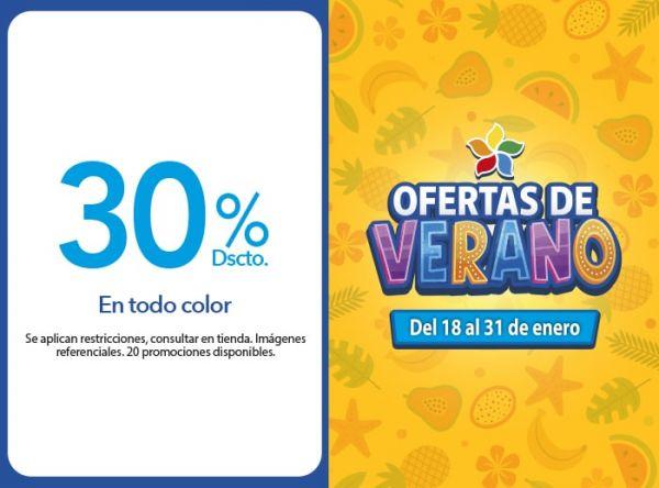 30% Dscto. en todo color. MONTALVO - Mall del Sur