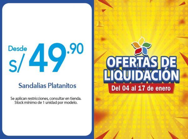 SANDALIAS PLATANITOS DESDE S/ 49.90 Platanitos - Mall del Sur